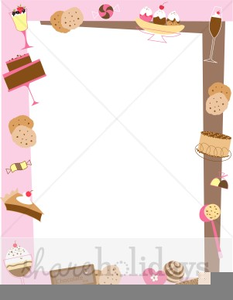Dessert Border Clipart.