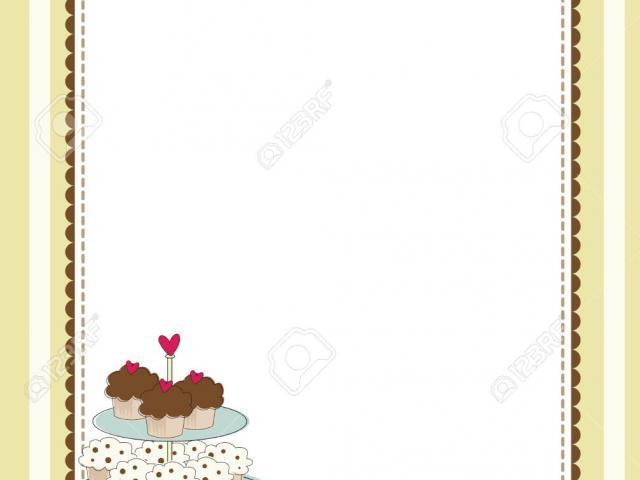 Border Clipart dessert 2.