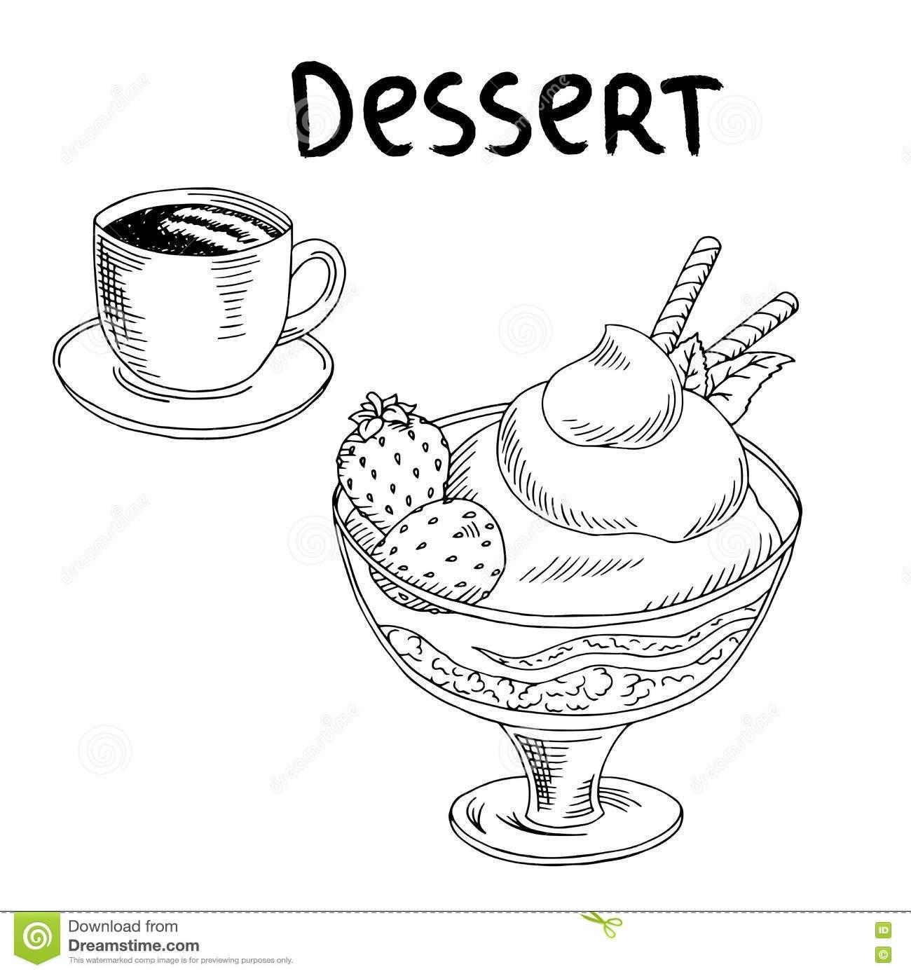Desserts clipart black and white 2 » Clipart Portal.