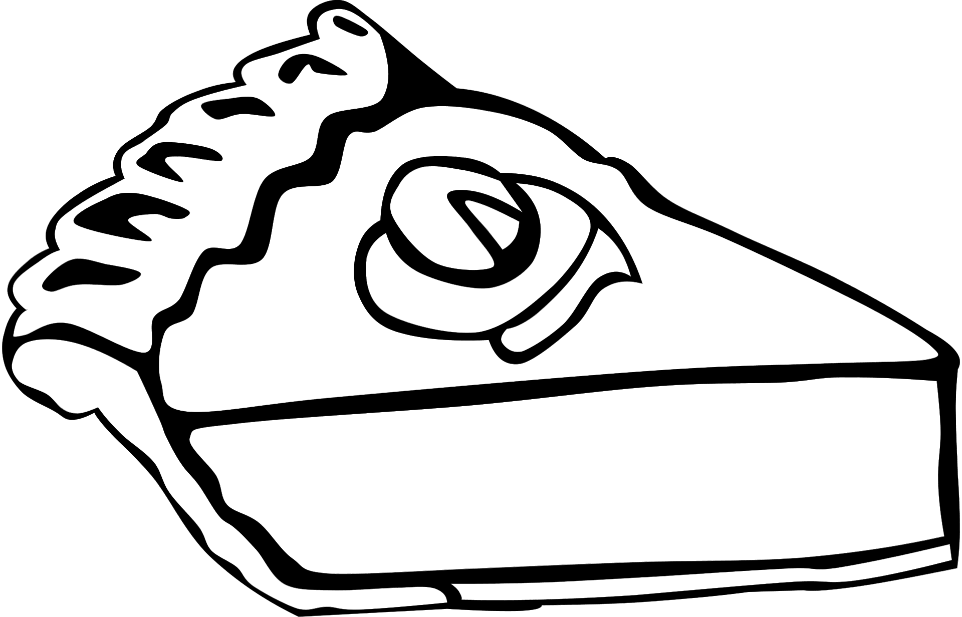 Free Dessert Cliparts Black, Download Free Clip Art, Free Clip Art.