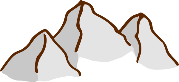 Desert Mountain Clip Art.