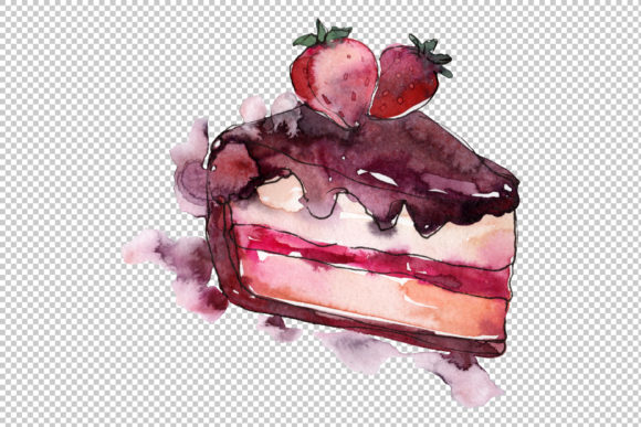 Dessert Love Story Watercolor Png.