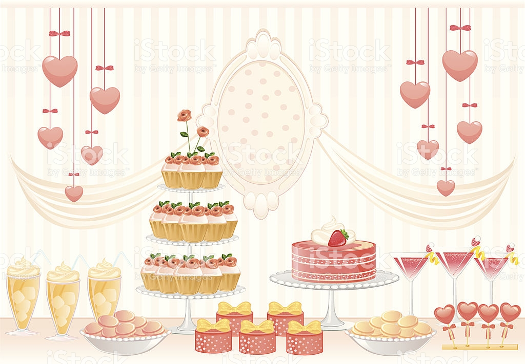Pink Dessert Table stock vector art 165799869.