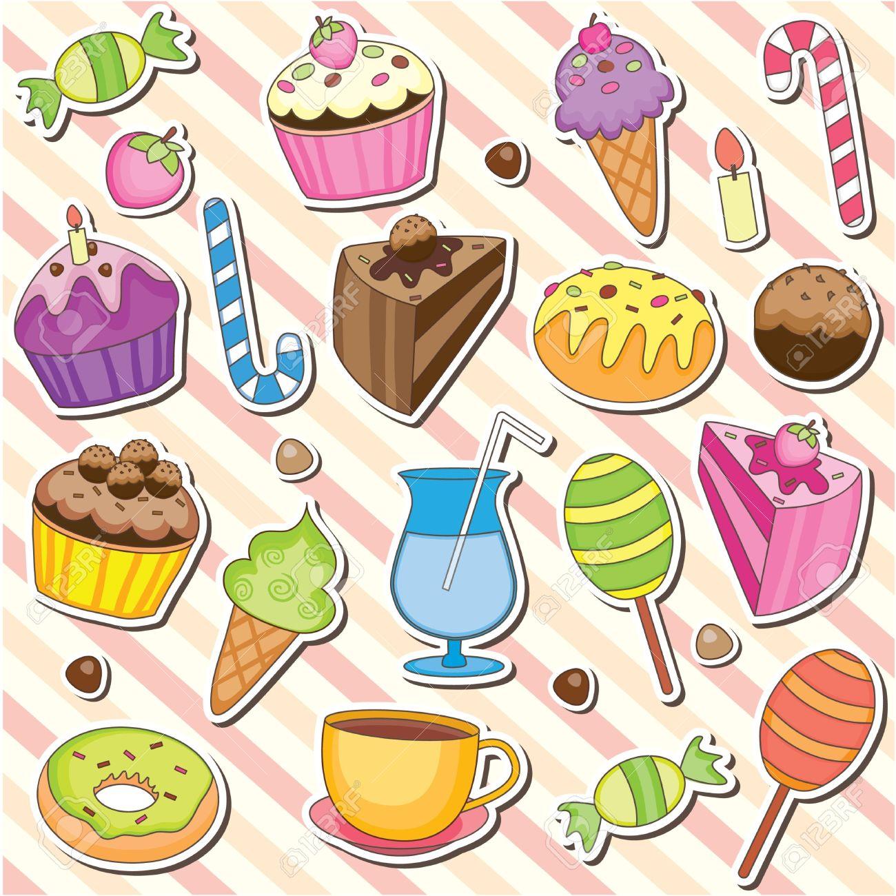 Dessert Tray Clip Art 74123.