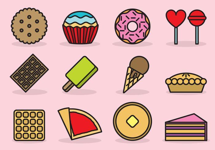 Cute Dessert Icons.
