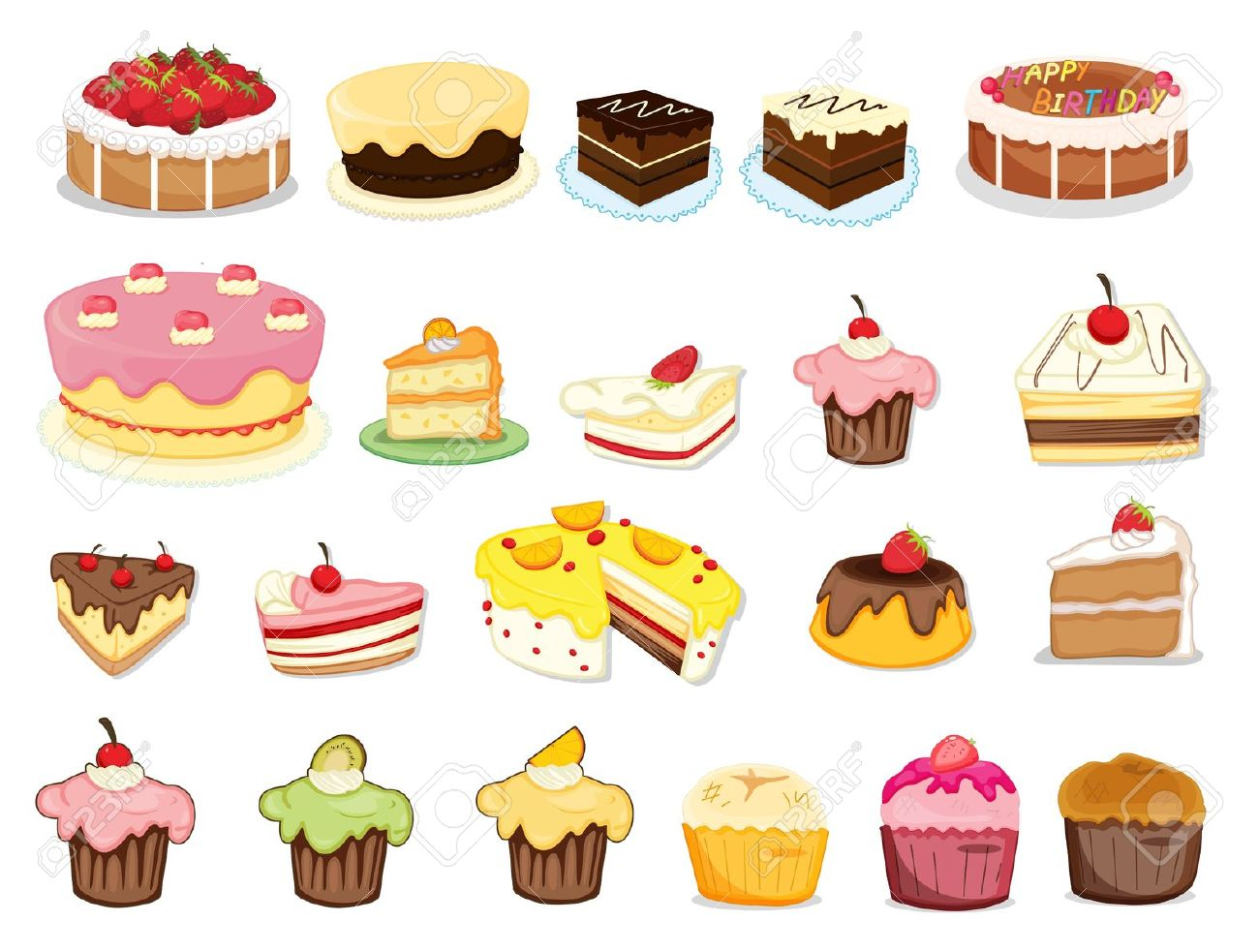 Desserts clipart.