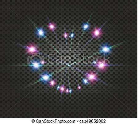 Azul, rosa, amor, flashlights., luz, símbolo, efecto.