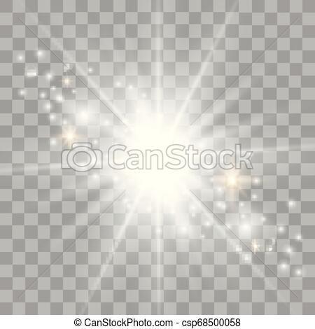 La estrella estalló con destellos de oro. sol. efecto.