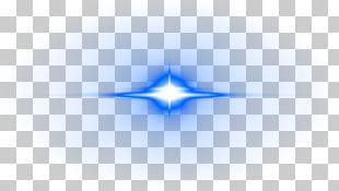 Marca azul, efecto de luz de destello de lente creativa.