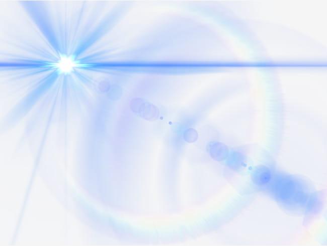 Efecto de brillo de lente azul PNG Clipart.