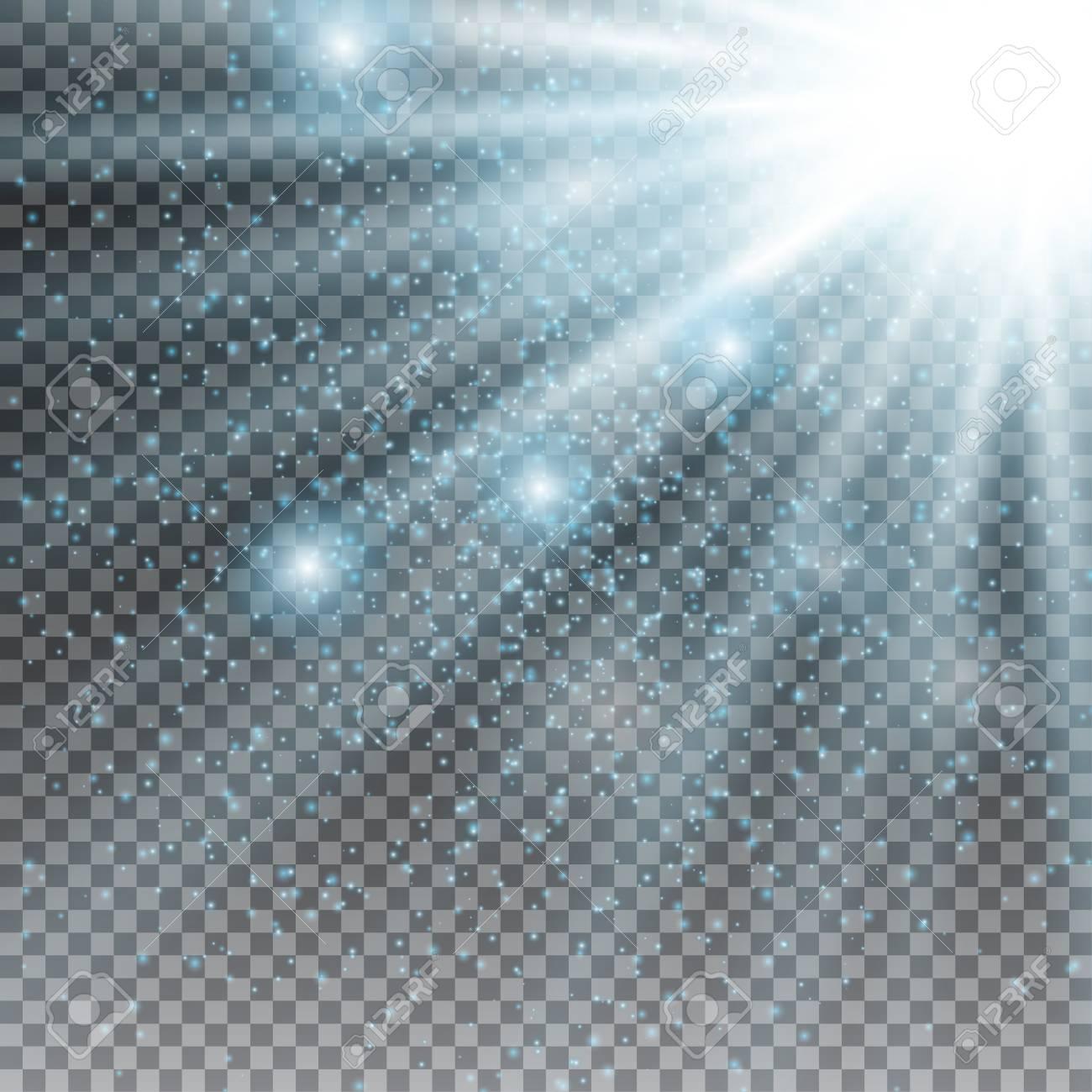 Explosión de destello de luz de estrella con desenfoque y efecto de  destello de lente. Brillo del sol brillante. Luz brillante de los rayos del  sol.