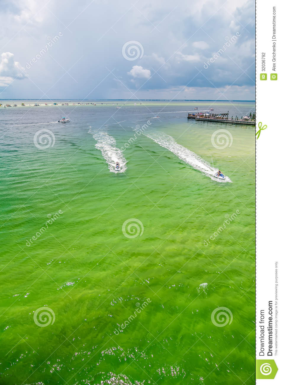 Florida Beach Scene Clipart.