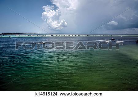 Stock Photo of destin florida beach scenes k14615124.