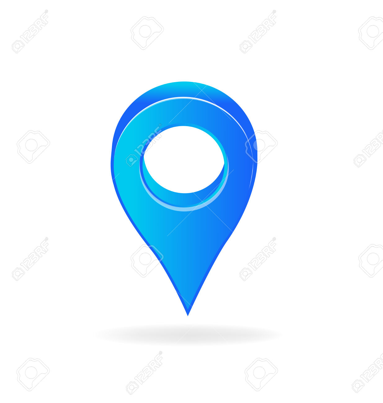 3D Map Pointer. Destination Gps Symbol Image Royalty Free Cliparts.