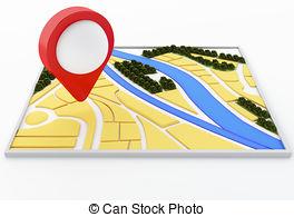 Stock Illustration of Destination Point. Global Internet navigator.