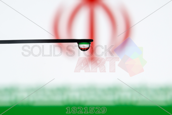 Stock Photo of Iran colorful country flag in macro view.