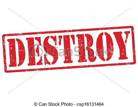 Clip Art Vector of Destroy stamp.