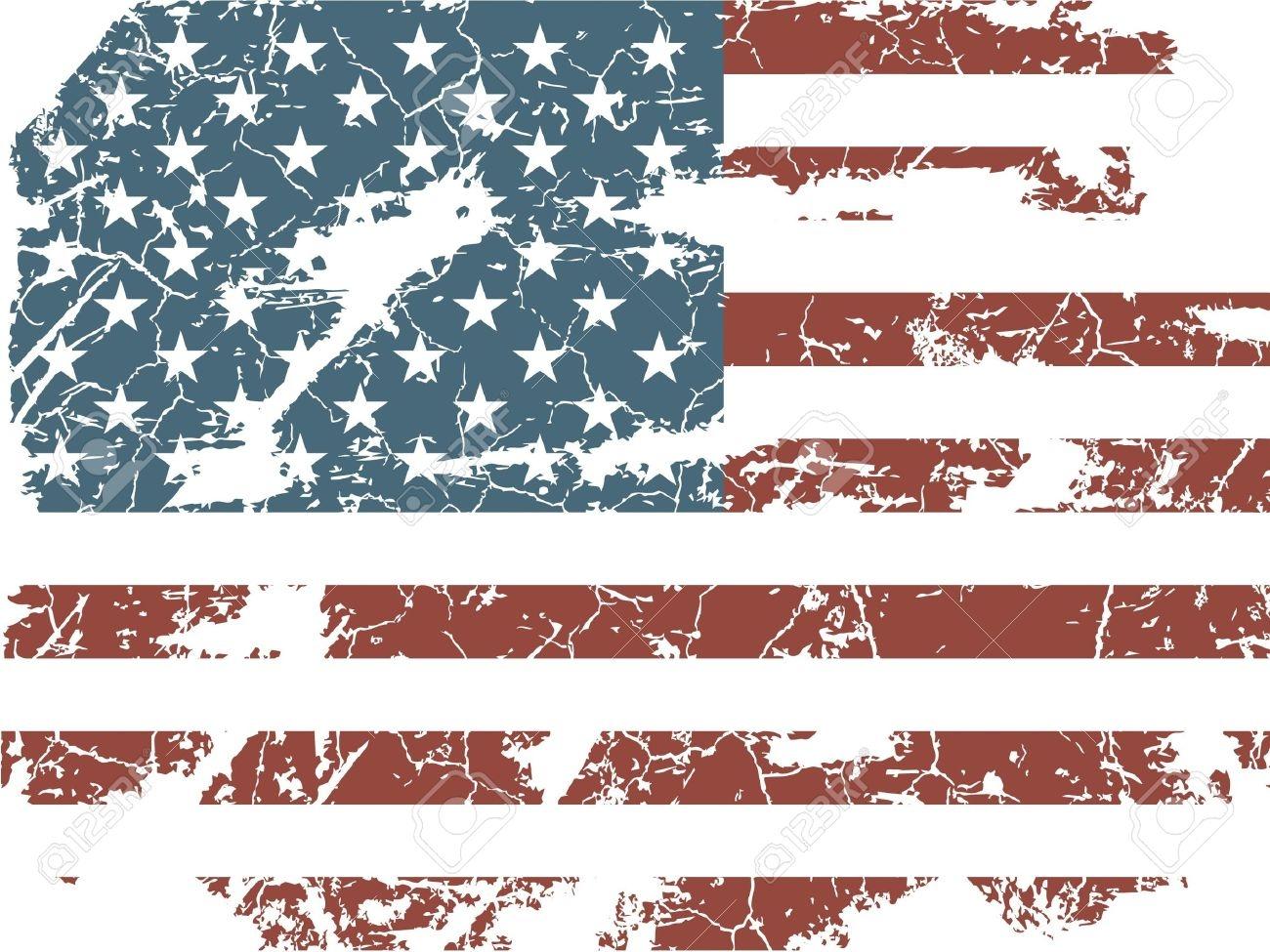 Worn Flag Clipart.