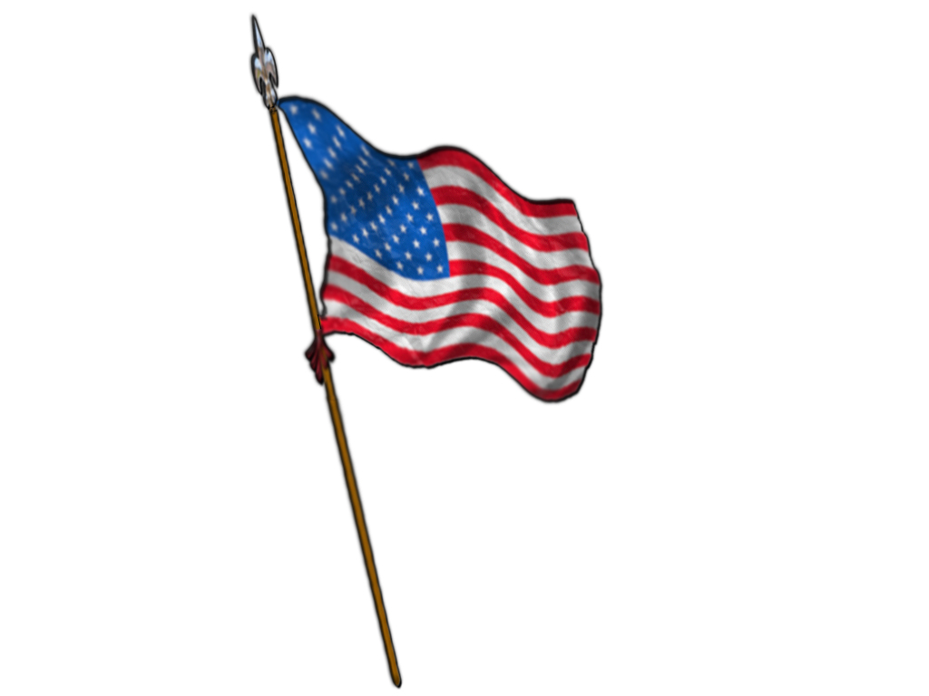 Destroyed American Flag Clipart.