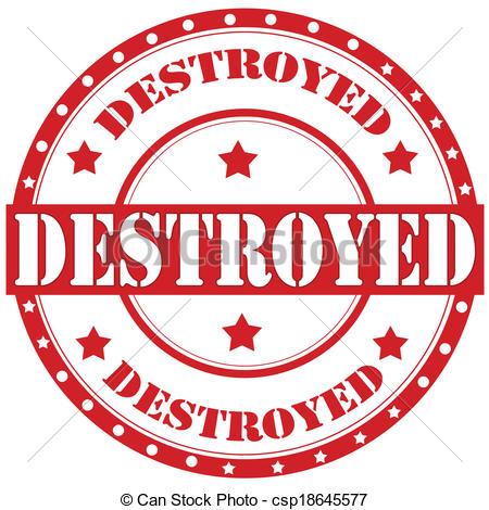 Vectors Illustration of Destroyed.