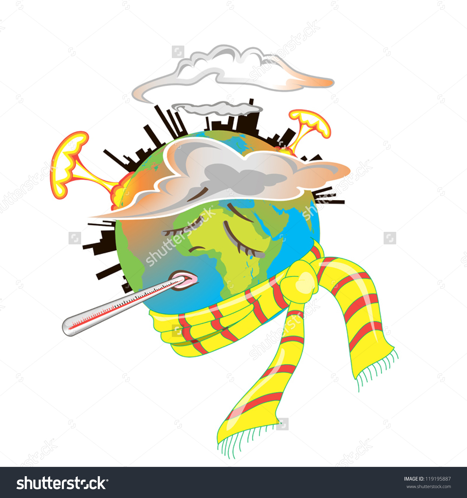 Destroyed environment clipart.