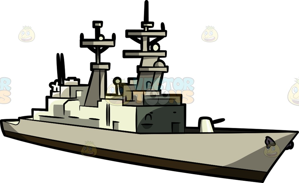 destroyer Cartoon Clipart.