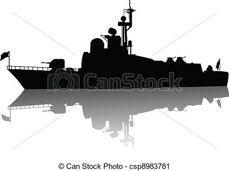 EPS Vectors of Torpedo boat and destroyer.