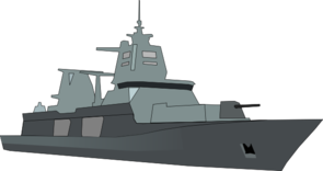 Navy destroyer clipart.