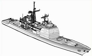 Free Destroyer Ship Clipart.