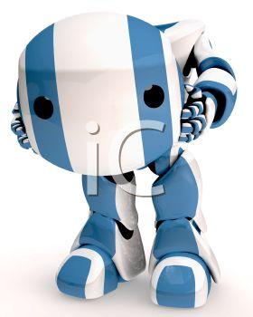 A 3D Robot With Detachable Head.