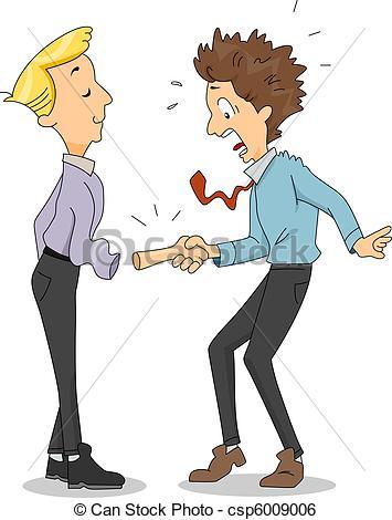 Stock Illustration of Funny Handshake.