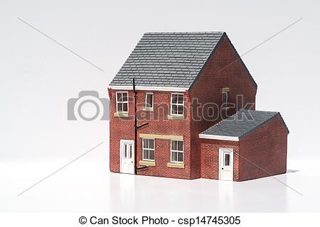 Detached house clipart.