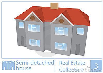 Semi Detached House Stock Illustrations.