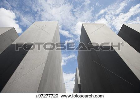 Stock Photography of Low angle view of concrete blocks at.