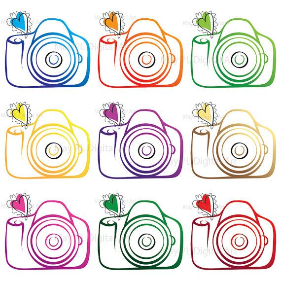Camera Digital VECTOR Clipart DIY Photographer Photography.