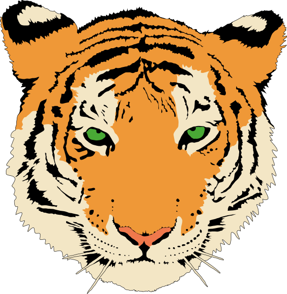 Detailed Tiger Head Clipart.