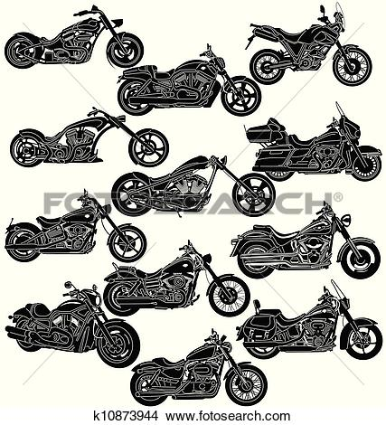Clipart of Motorcycle Package.