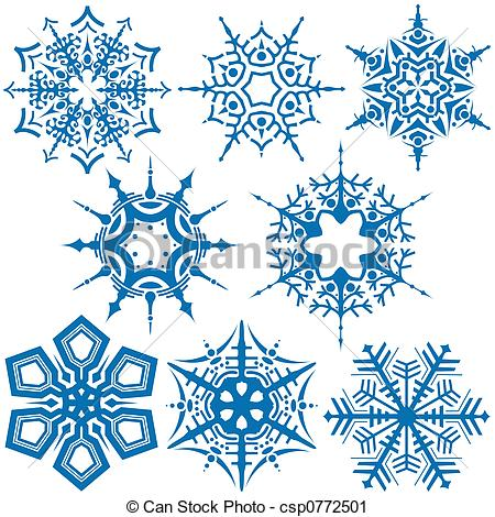 Clipart of Snowflakes C.