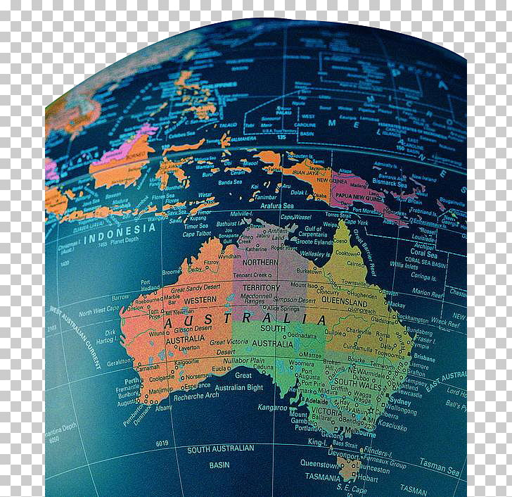 Australia United States Map Nursing Otter, Australia map.