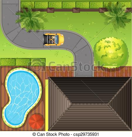 Clipart house top view.