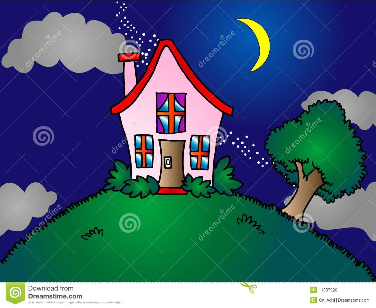 Top Of House House Clipart.
