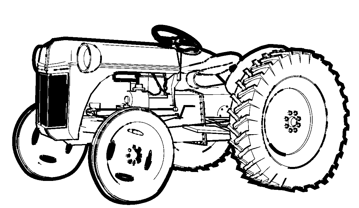 Tractor Outline With Tractor Outline Clipart : Tractor Outline.
