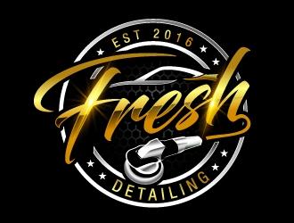 Fresh Detailing logo design.