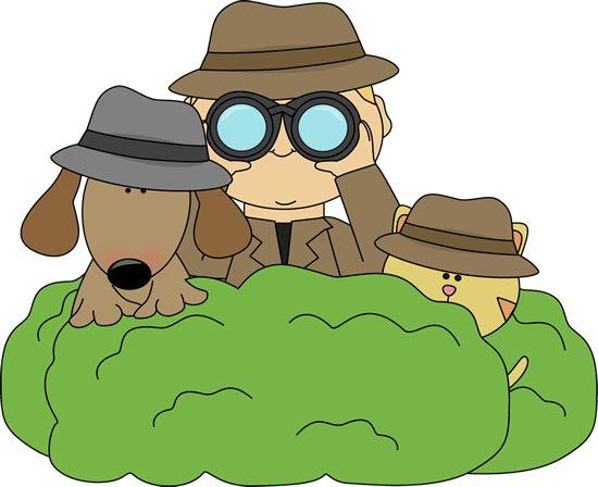 Cute detective clipart.
