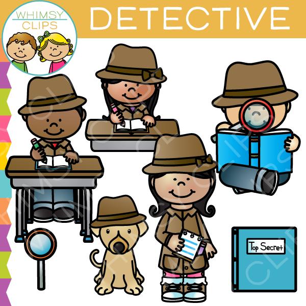 Detective Kids Clip Art , Images & Illustrations.