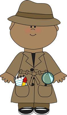 Cute Detective Clip Art.