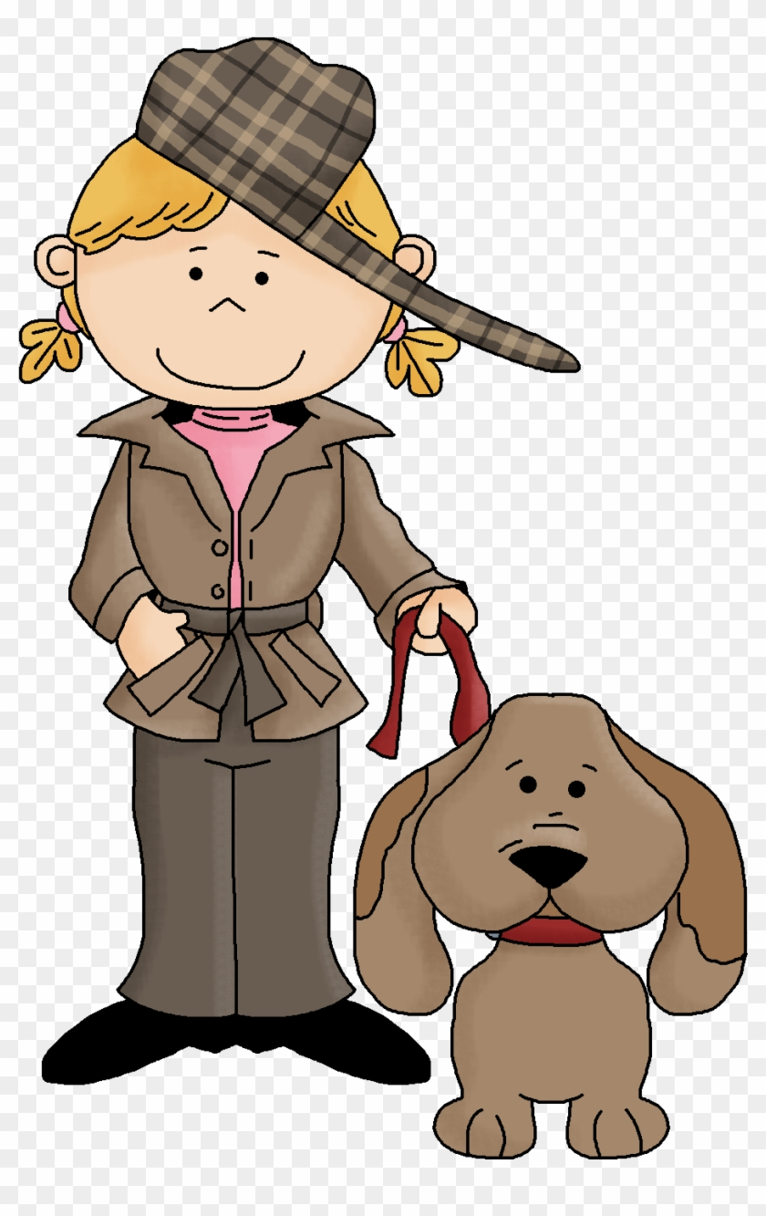 Clipart Marvelous Detective Clipart Female Black And.