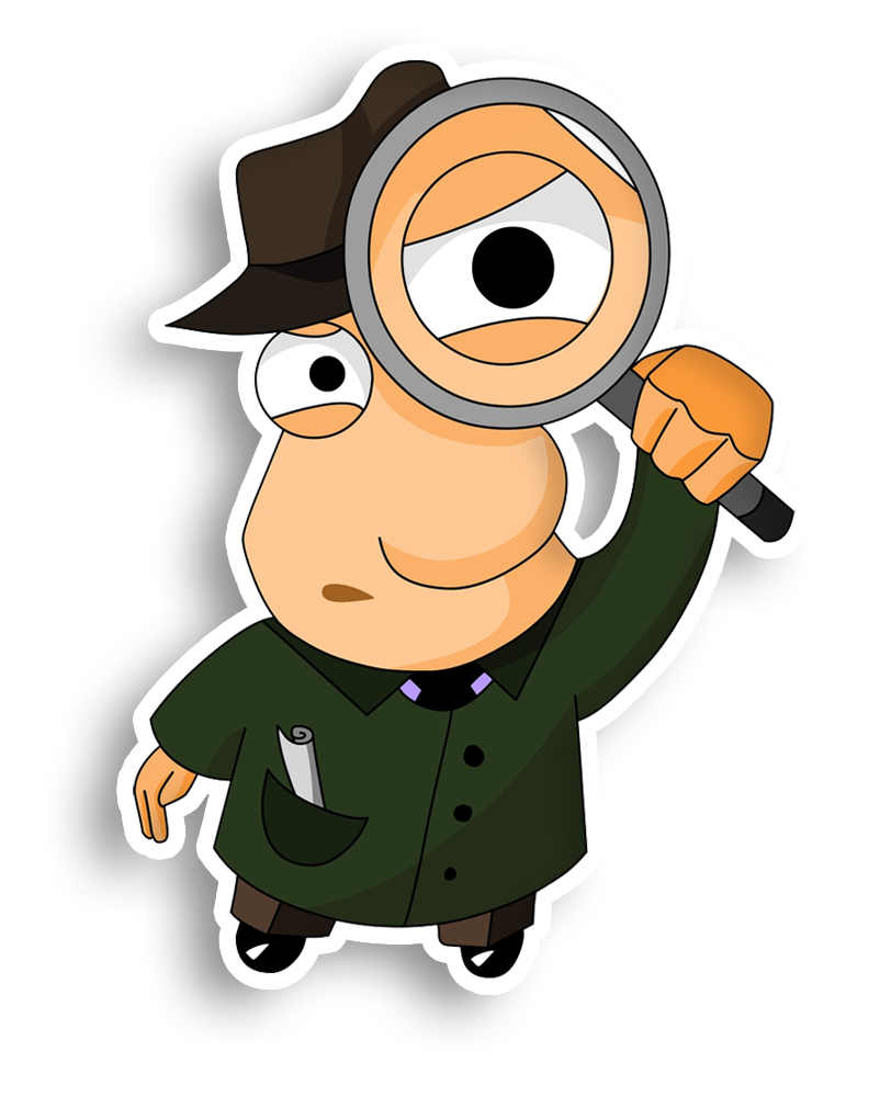Detective clipart magnifying class, Detective magnifying.