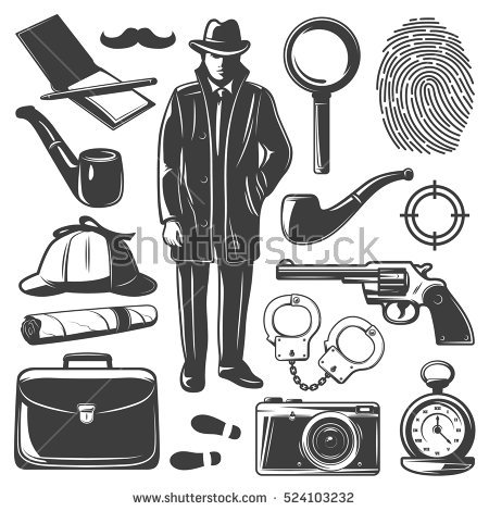 Detective Stock Images, Royalty.