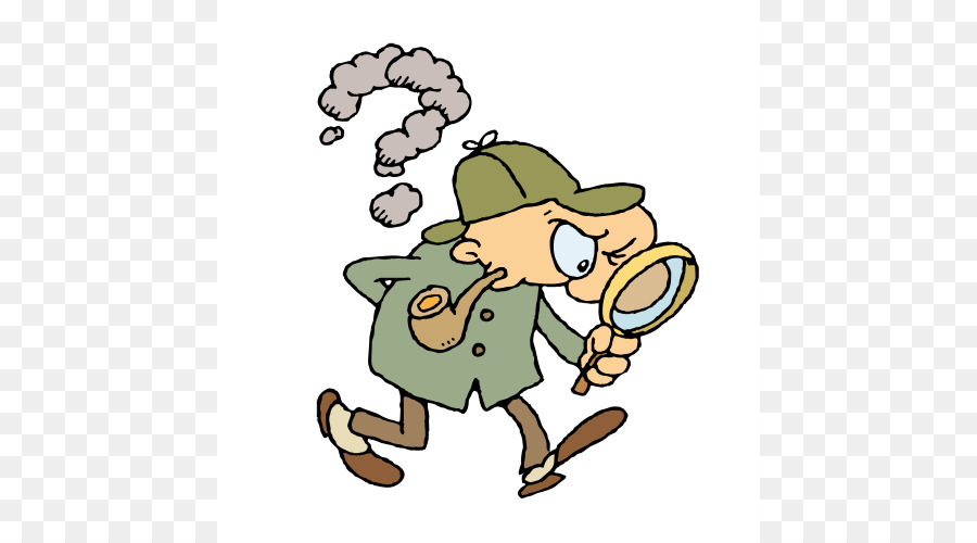Detective With Magnifying Glass Clipart 5.